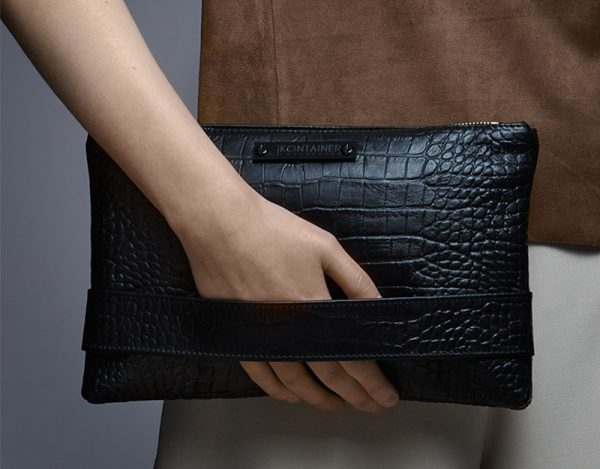 Crocolicious Space Clutch