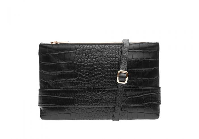 Crocolicious Space Clutch Front