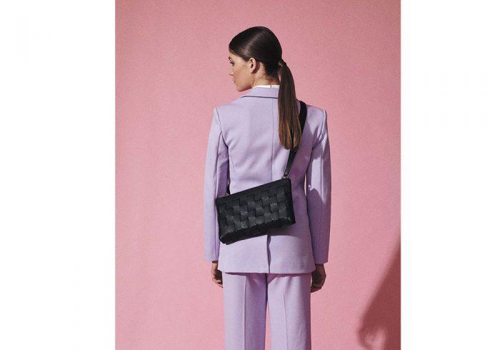 Kontainer Copenhagen Sustainable Braided Bag Black Love Clutch