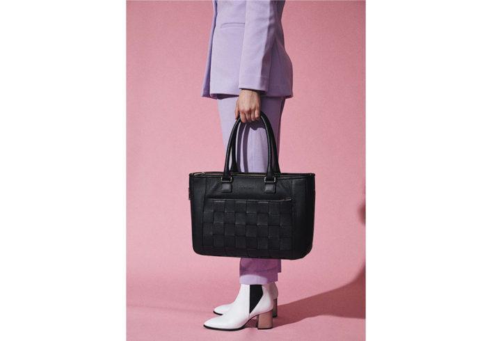 Kontainer Copenhagen Sustainable Braided Bag Black Love Shopper