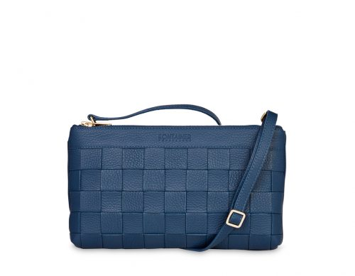 Aqua Blue Clutch - The Clutch comes with a long shoulder strap which you can easily attach or detach in the hidden back pocket as you wish.