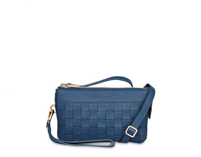 Aqua Blue Mini Clutch - The Mini Clutch comes with a long shoulder strap which you can easily attach or detach in the hidden back pocket as you wish.