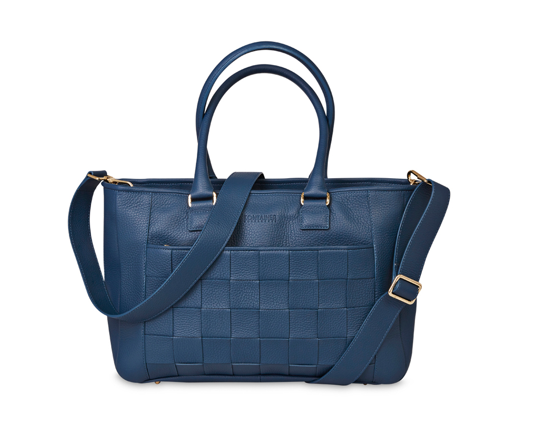 Aqua Blue Shopper - A big shopper bag which is perfect for the working lady who wants everything to be well organized.