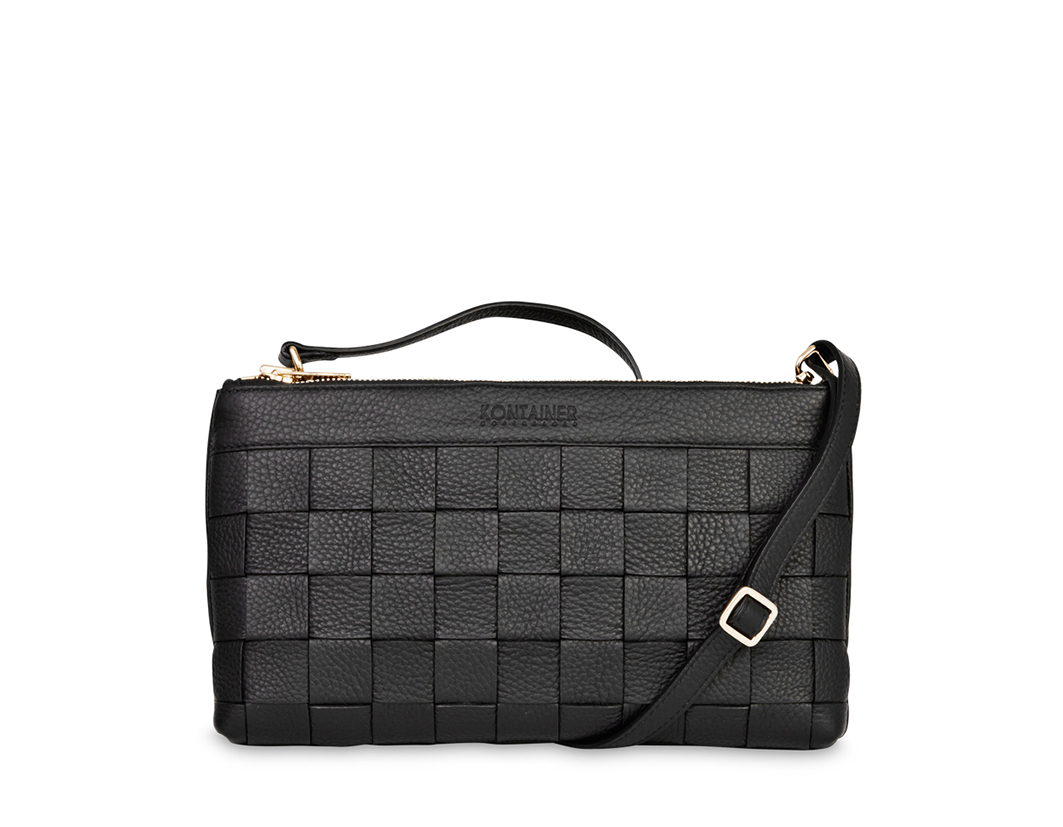 Black Love Clutch - is bigger than a purse smaller than a bag and is a practical bag which is designed with separate rooms for all of your necessities.