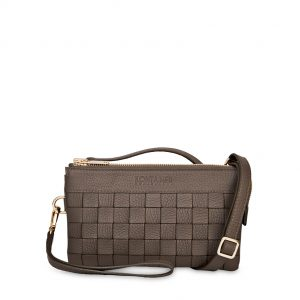 Brown Bear Mini Clutch - Although the small size of the Brown Bear Mini Clutch, it is spaciously designed with a room designated to carry your phone as well as separate credit card holder and zip pocket.