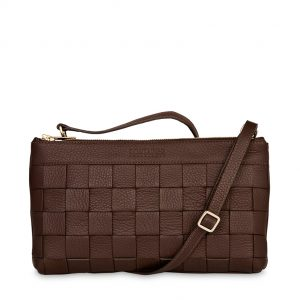 Mocha Chocolate Clutch - Mocha Chocolate Clutch is one of our medium-sized bags perfect for everyday wear or an evening out. The Clutch is made in the softest Italian calf leather and the front has beautiful hand braidings.