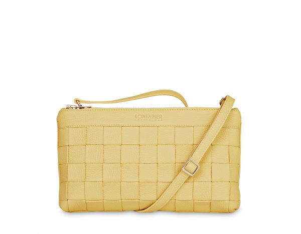 Yellow Mellow Clutch - This practical little clutch bag has it's own credit card holder.