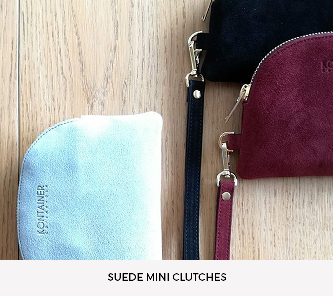 Kontainer Copenhagen Grey Shadow Mini Clutch