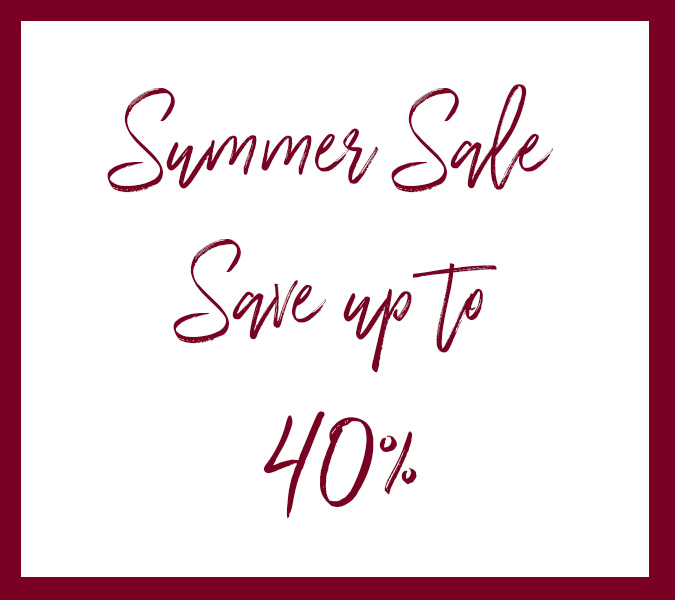 Summer sale is on - save up to 40%