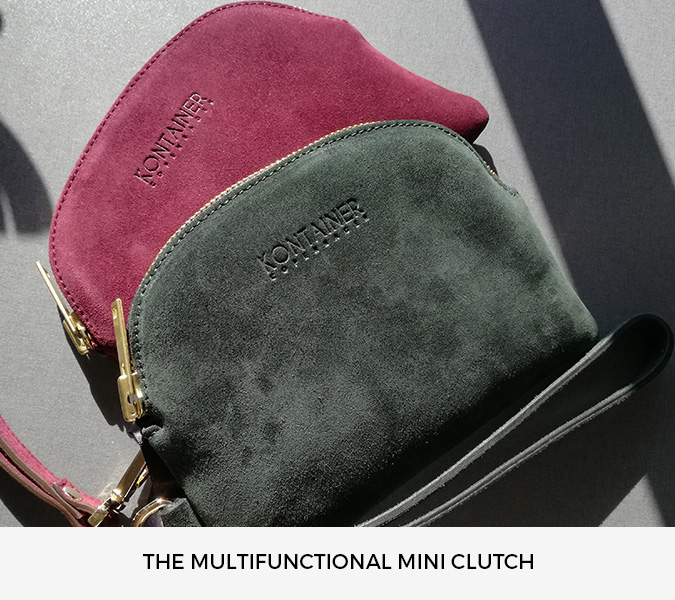 Kontainer Copenhagen Suede Mini Clutches