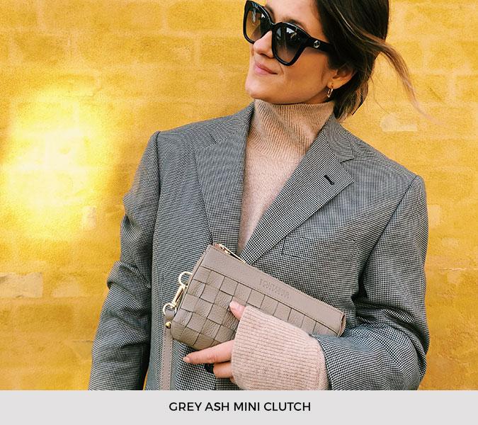Kontainer Copenhagen - Grey Ash Mini Clutch