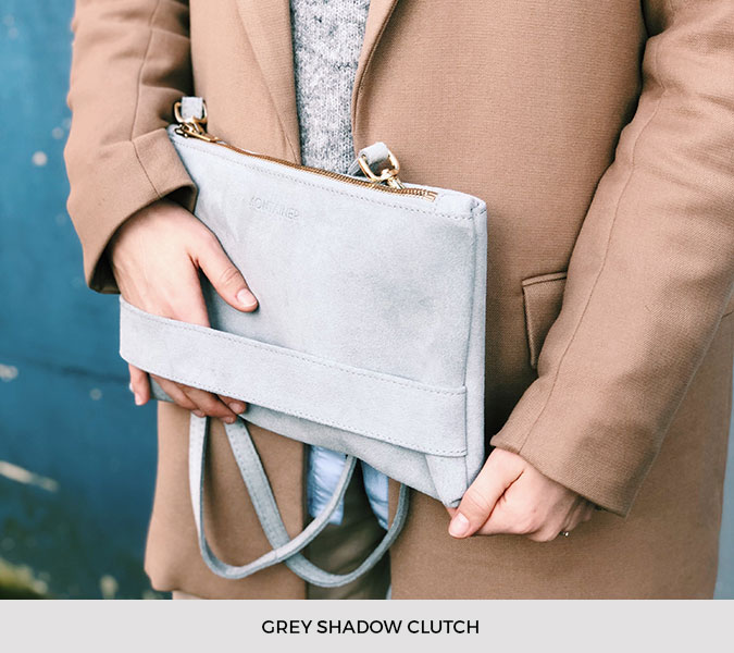 Kontainer Copenhagen - Grey Shadow Clutch
