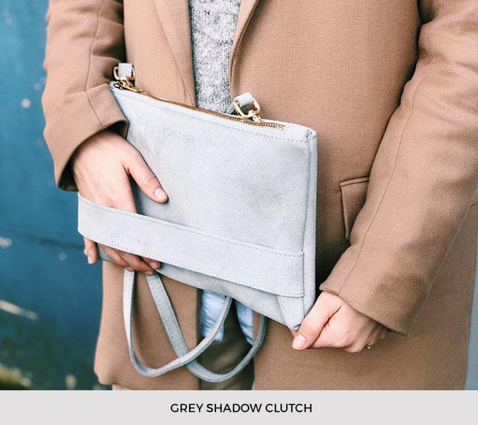 Kontainer Copenhagen - Grey Shadow Clutch