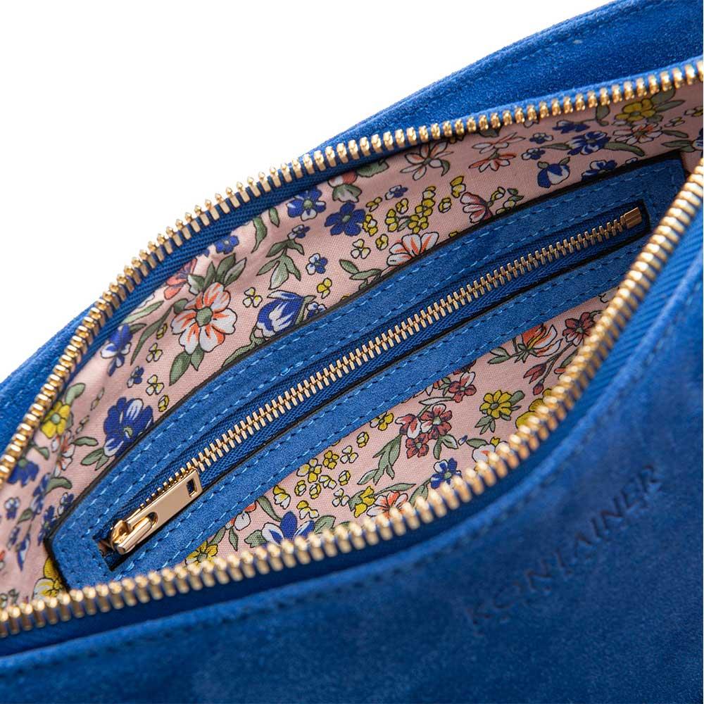 Kontainer Copenhagen Sustainable Handbags Lining Blue Lagoon Clutch
