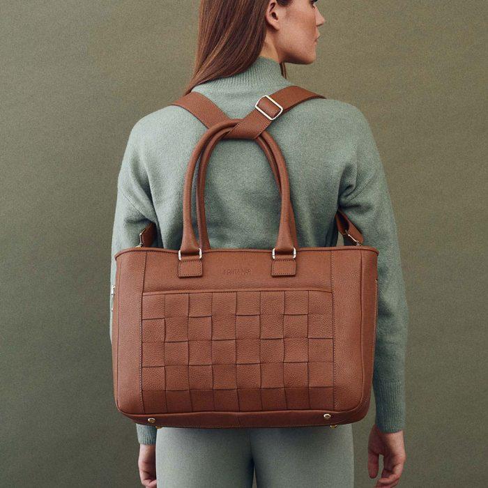 Kontainer Copenhagen Sustainable Workbag Camel Crush Shopper