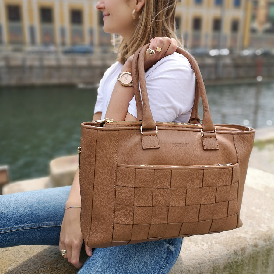 Kontainer Copenhagen - Camel Crush Workbag